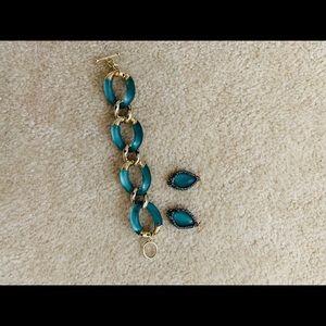 Alexis Bittar link bracelet & Earring Set